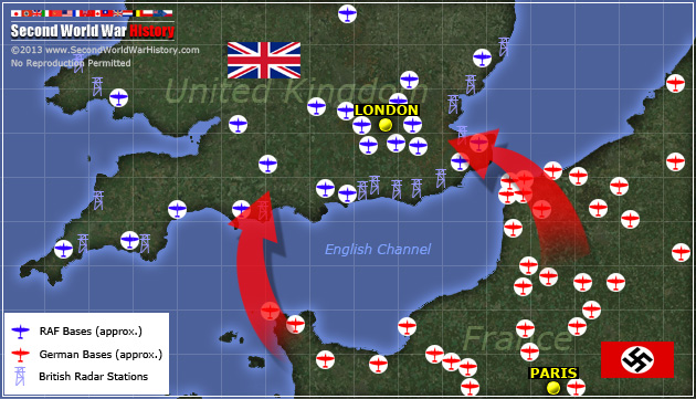 Air Force Bases In England Map.Germany Attacks Britain The Battle Of Britain